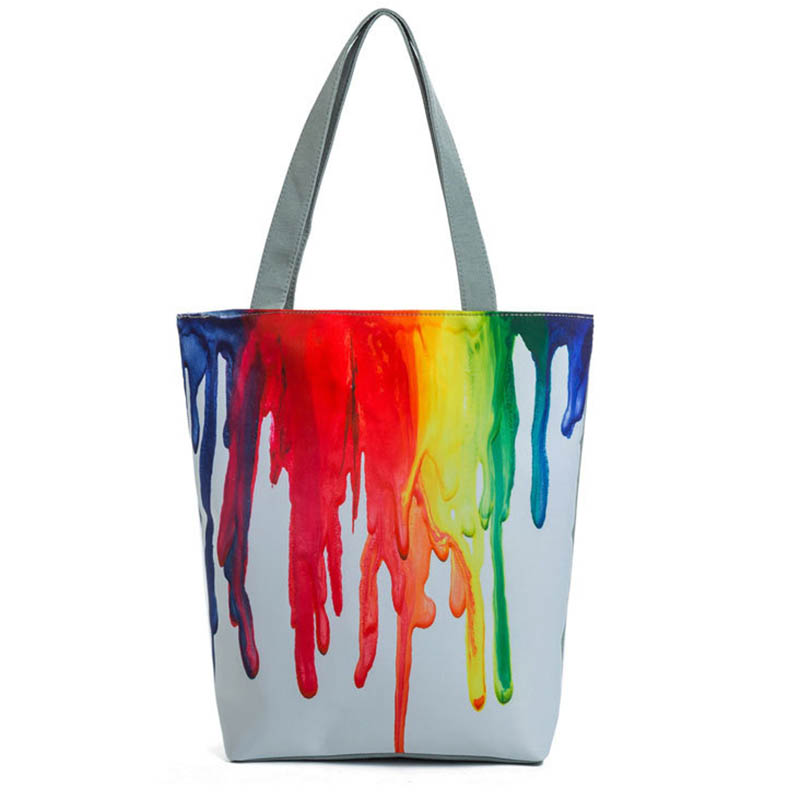 ASDS Harajuku Style Colorful Painting Shoulder Bag Women Large Capacity Shopping Bag Female Casual Tote Handbag braun hd 380