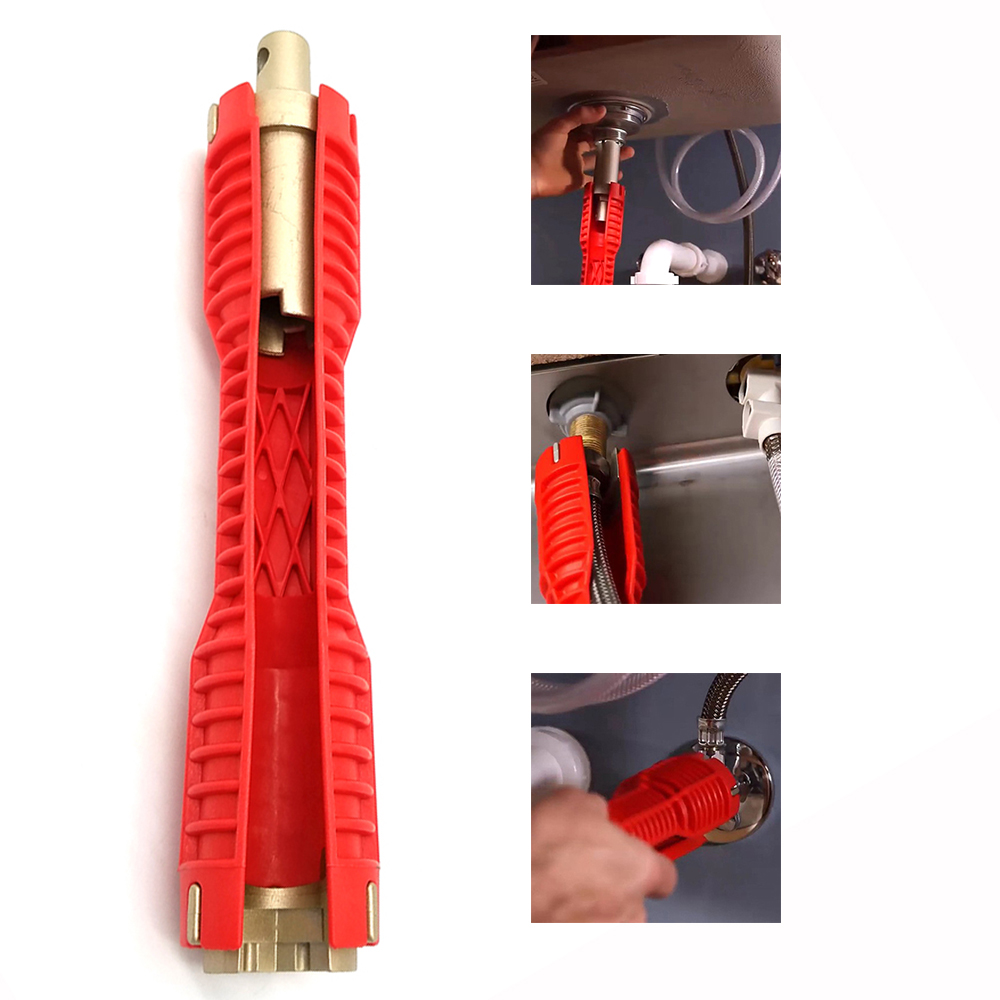 Faucet and Sink Installer Pipe Wrench Faucet & Sink Install Tool Kitchen and Bathroom Tool Multi-function Pipe Wrench