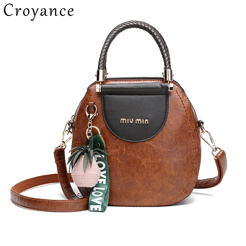Croyance Fashion Small PU Leather Shoulder Bags for Women Pineapple Pendant Handbags Crossbody Purse ClutchCroyance Fashion Small PU Leather Shoulder Bags for Women Pineapple Pendant Handbags Crossbody Purse Clutch