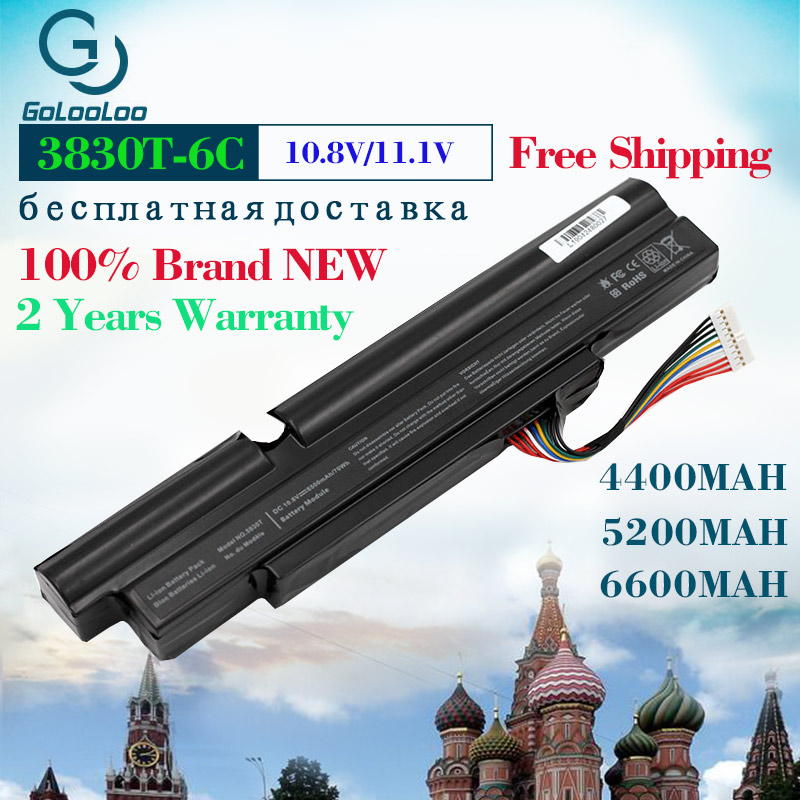 Gooloo 6 cells laptop battery for <font><b>Acer</b></font> Aspire TimelineX 3830T 3830TG 4830T <font><b>4830TG</b></font> 5830T 5830TG AS11A3E AS11A5E 3ICR19/66-2 image