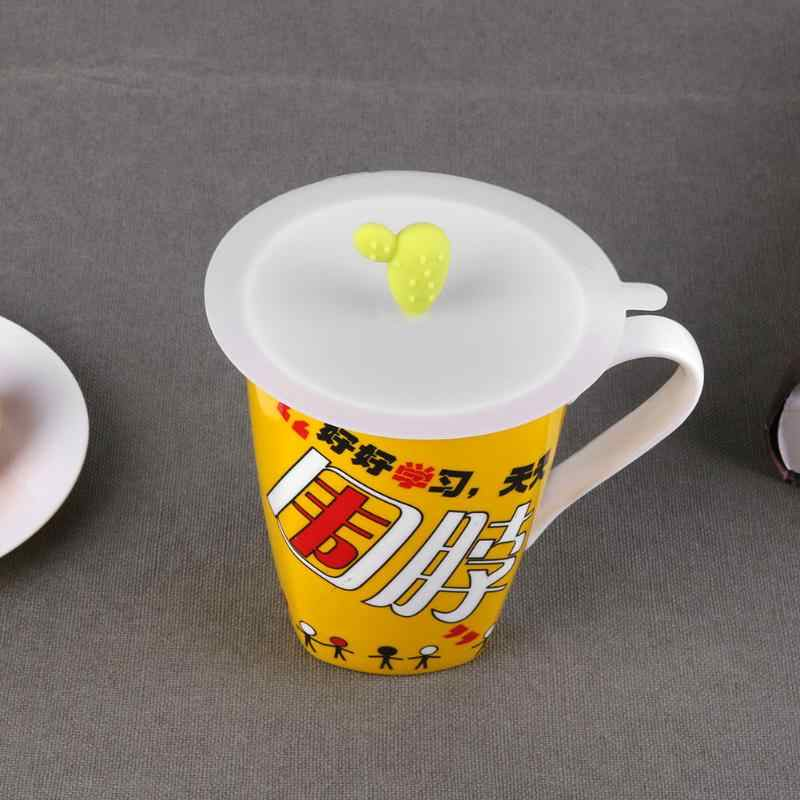 Silicone Cactus Anti-dust Cup Cover Coffee Airtight Suction Seal Suction Lid Cup Cap Milk Drinking Tea Cup Cover
