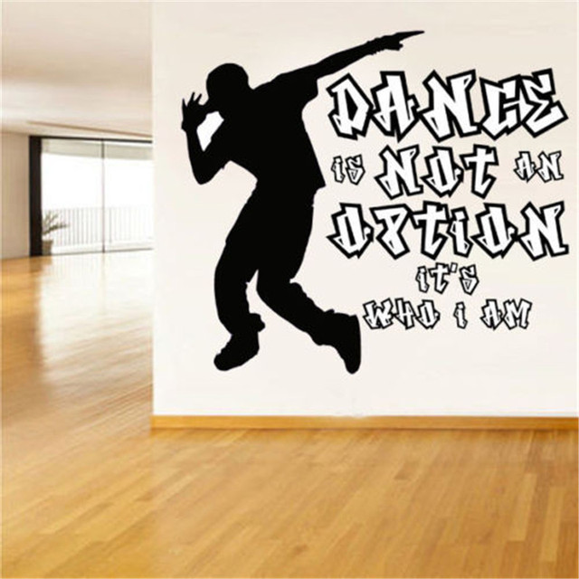 Street Dance Breakdance DIY Wall Art Sticker Decal Fashion Cool Wall  Stickers For Boys Room Dancing
