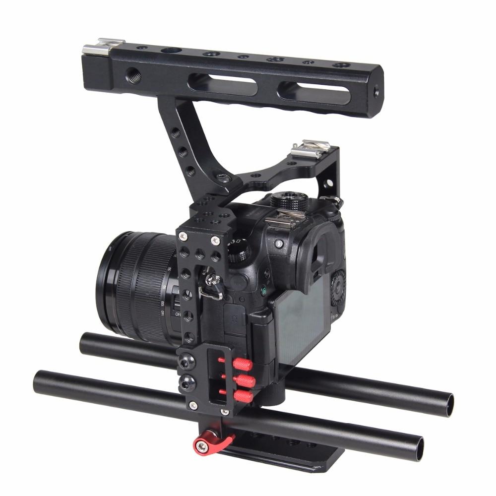 Professionele Aluminium Camera Video Cage Rig Kit Systeem Voor Sony - Camera en foto - Foto 4