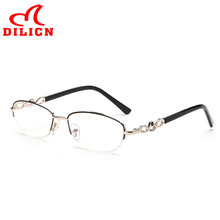 Half Frame Reading Glasses Women Brand