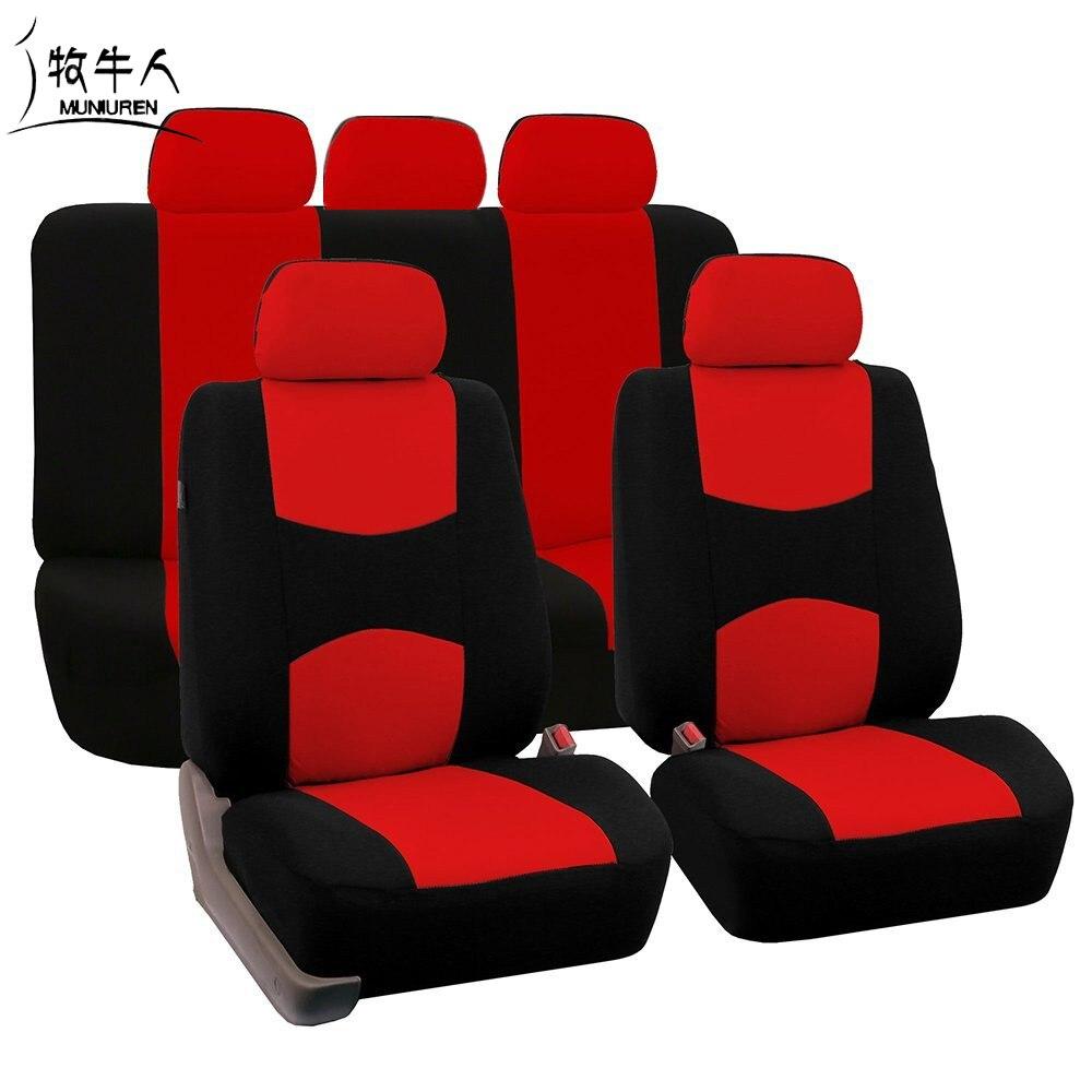 MUNIUREN Funda de Asiento de Coche Universal de Alta Calidad 9 Set - Accesorios de interior de coche
