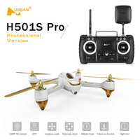 Original Hubsan H501S Pro X4 5.8G WIFI FPV Brushless Drone with Camera 1080P 10CH 6 Axis GPS Professional Quadcopter RC Done