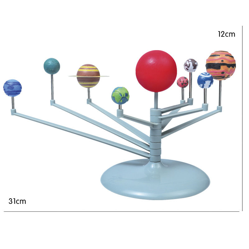 1 Set Kids Puzzle Toy Geography Teaching Resources Solar System Planetary Model DIY Assemble Toy Learning Tool Supplies