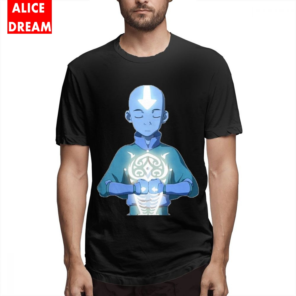 Aang Avatar The Last Airbender T Shirt Men New Custom T Shirt 100% Cotton Alicedream Homme Tee Shirt Anime