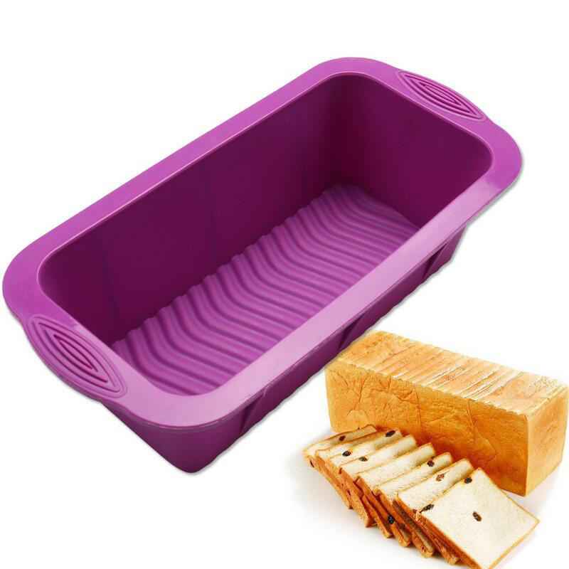 2pcs Silicone Non Stick Bread Loaf Cake Mold Baking Pan Oven Tray Mould Bakeware