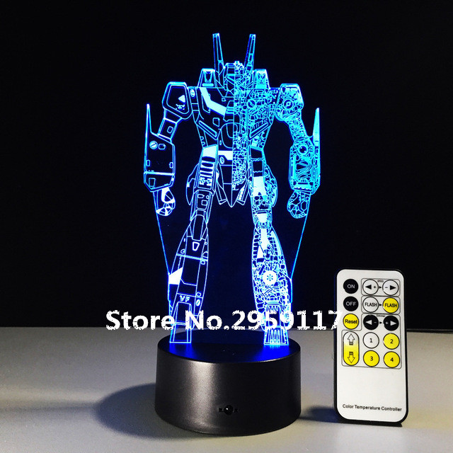 Cool Transformers 3d Night Light Baby Bedroom Sleeping Lamp 7 Color Changing 3D Iron Man Atmosphere LED Desk Table Lamp Boy Gift