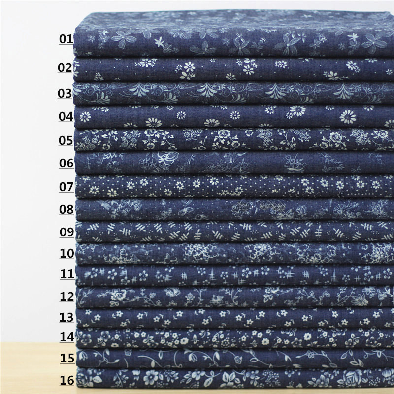 75% cottpn+25% Polyester.denim fabric handmade clothes pants cloth DIY Dress Shirt Skirt Width 1.4m*length 1m R172