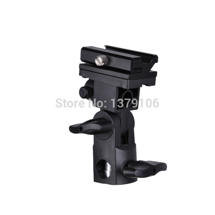 Type B Universal Mount Flash Hot Shoe Adapter Trigger Umbrella Holder Light Stand Bracket wholesale