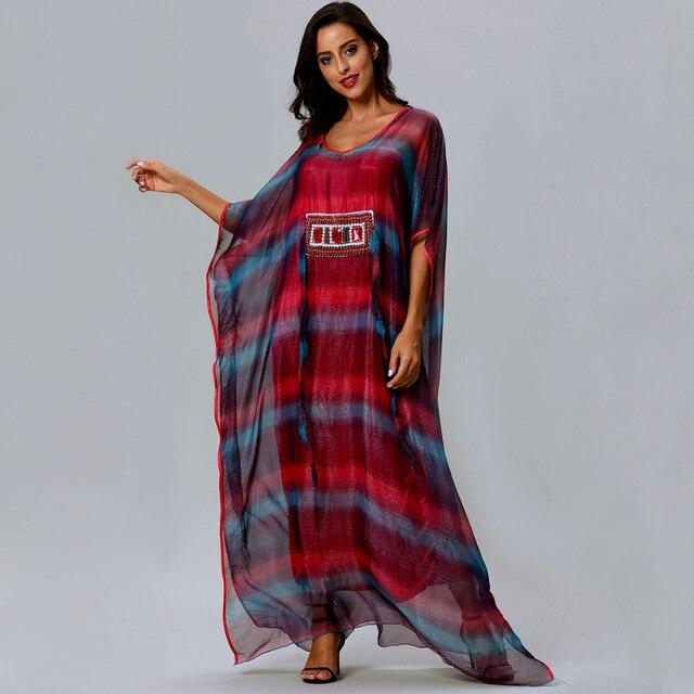 Aliexpress Buy Women Chiffon Ruffles Rainbow Hand Embroidery