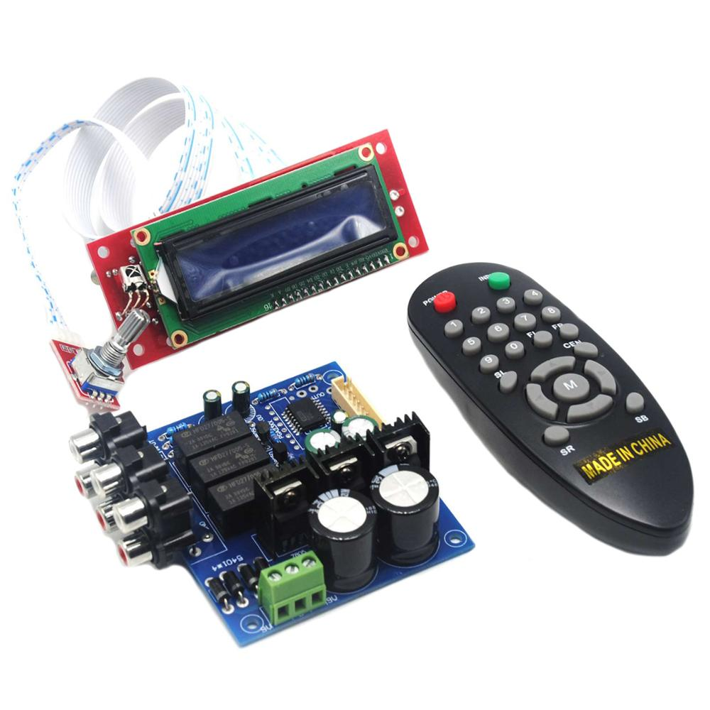 PGA2311 LCD Volume Remote Control Preamp for 3 Channel Input Preamplifier Board YJ0037