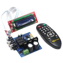 купить PGA2311 LCD Volume Remote Control Preamp for 3 Channel Input Preamplifier Board YJ0037 по цене 2177.34 рублей