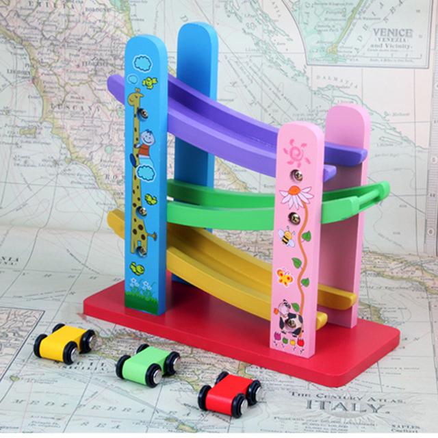 Criativo brinquedos para KidsOrbit inércia roller coaster De Madeira Crianças brinquedos Da Novidade juguetes de Educação e Aprendizagem brinquedos