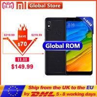 Original Xiaomi Redmi Note 5 4GB 64GB Mobile Phone Snapdragon S636 Octa Core 4000mAh MIUI9 FullScreen 5.99 2160*1080 12.0+5.0MP