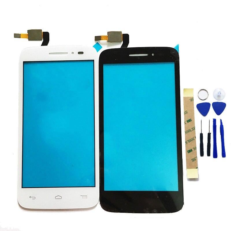 Noir/Blanc Pour Alcatel One Touch POP 2 5042D OT5042 5042 Écran Tactile Digitizer Panneau Lentille En Verre de Remplacement + 3 M Autocollant