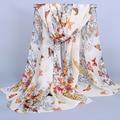 2015 Весной и осенью бархат шифоновый шарф sunsreen мыс бабочка пляжное полотенце полька большой шелковый шарф цветов XF03