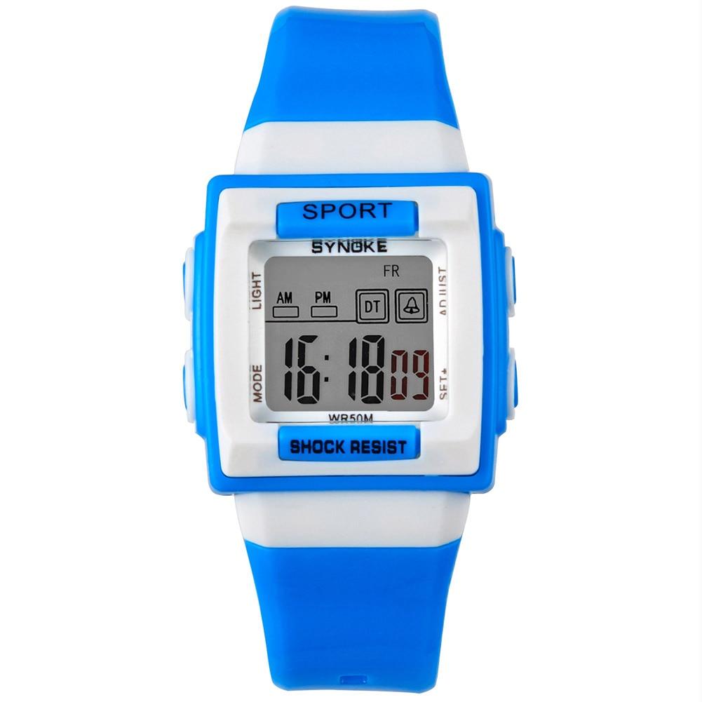 Multi-function Children Electronic Digital Watches Shockproof Waterproof Luminous Wristwatch Kids Alarm Clock Watch LL@1