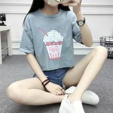 Ice Cream Cotton Crop Top (3 colors)
