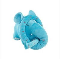 lovely plush elephant long nose elephant about 150cm birthday gift colour blue