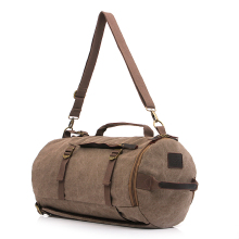 Large Capacity Canvas Travel Duffel Bags Men Fashion Cylinder package Travel Backpack Luggage Bag Male Shoulder Travel Bags 1130