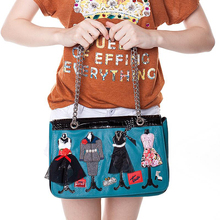 33x24CM Italian 2016  Summer New Autumn And Winter Fashion Stitching Panelled Colors Creative Theme Shoulder Messenger F A2627~3