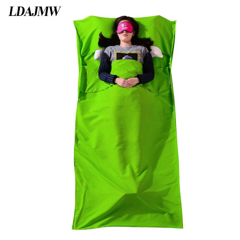 LDAJMW Outdoor Travel Portable Hotel Cotton Sleeping Bag Student Adult Indoor Polyester  ...