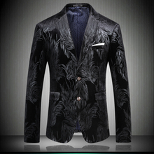 Blazer Men Casual Man Jacket 2019 Sping Brand New Male Two Button Slim Fit Fashion Blazer Full Jacket Dress Black #8657