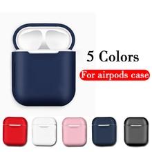 Силиконовый ТПУ Bluetooth беспроводной Чехол для наушников для Apple Airpods защитный милый чехол Аксессуары для кожи зарядная коробка для air pods