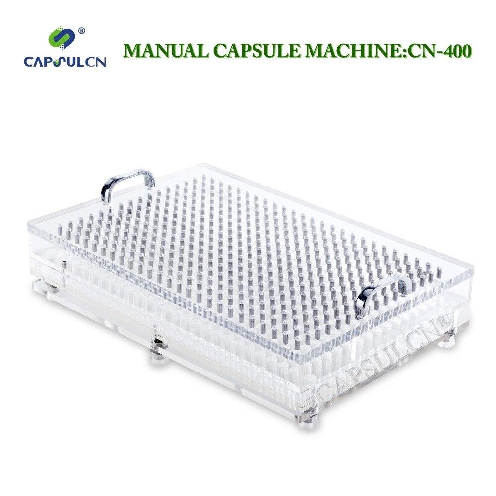 CN-400CL capsula di riempimento/macchina di rifornimento della capsula con perfetta precisione, adatto per separato capsule tutte le dimensioni 000 #-5 #