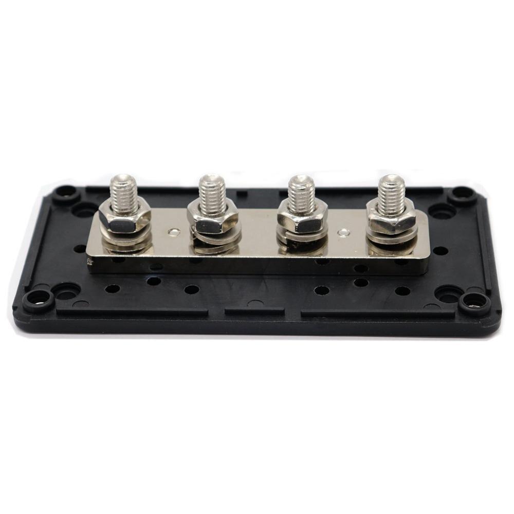 T Tocas 300A Heavy-Duty Module Design Power Distribution Block Busbar Box with 4x M8 5//16 Terminal Studs