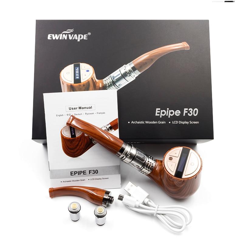 Electronic cigarette EWINVAPE ePipe F30 Kit E pipe vape 3ml Atomizer 30w wooden style mod with Gift packing VS epipe 618