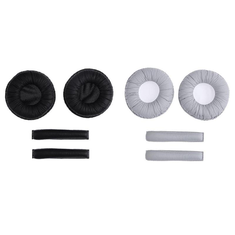 1 Pair Earphone Ear Pads w/Headband Cushions for Sennheiser PX100 PX200 Audio Video Earphone Accessories High Quality Earpads yongle ep11 high quality stereo universal 3 5mm headband earphone w microphone cable 120cm