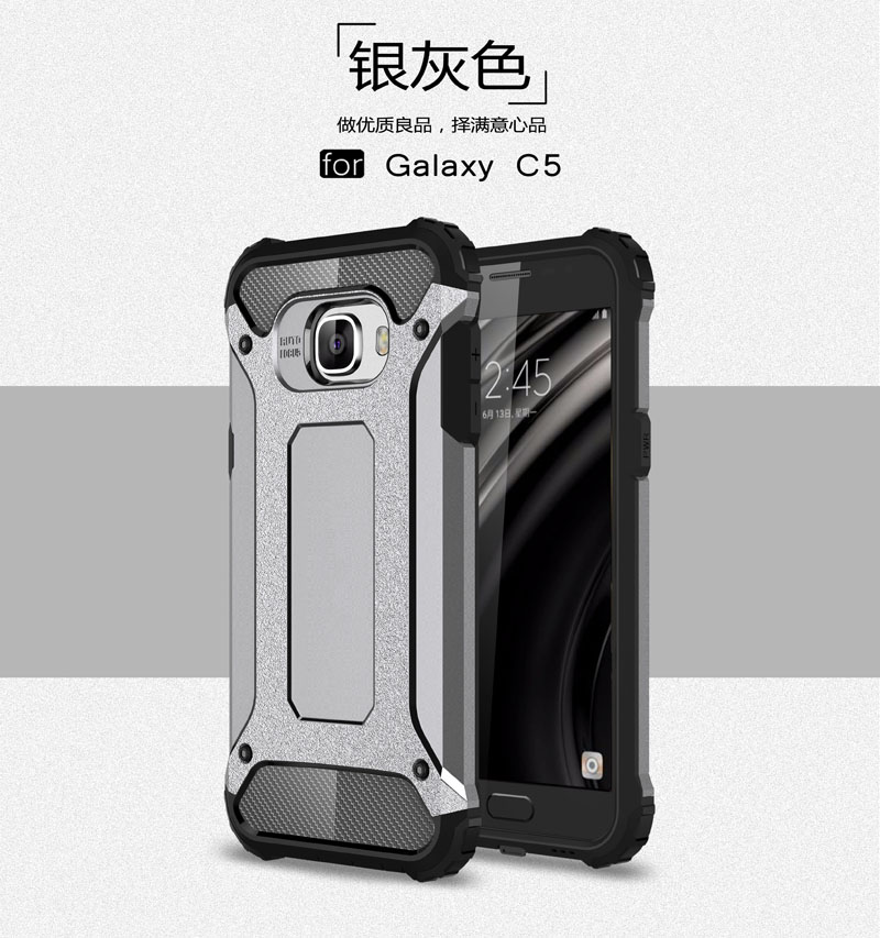 Hybrid Protective Back Cover For Samsung Galaxy C5 Sm
