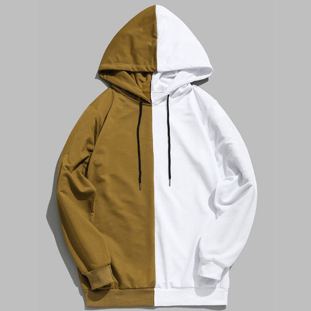 98b6341db32d Sweatshirts 2018 Men Women Long Sleeve Patchwork hooded Hip-hop Hoodie  Basic Skateboard Thrasher Sweatshirts