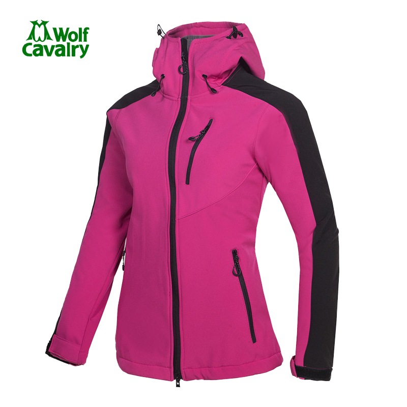 цены CavalryWolf women Winter Fleece Waterproof softshell jacket women outdoor Sport Trekking hiking jacket