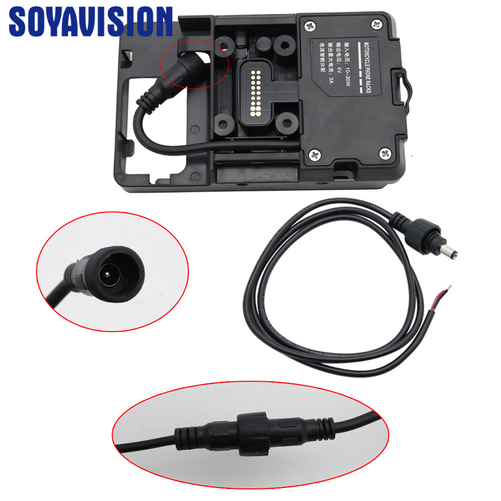 Mobile Phone USB Navigation Bracket Motorcycle USB Charging Mount For BMW R1200GS F800GS ADV F700GS R1250GS