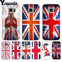 feb2d51b64 Yinuoda Union Jack British Flag Luxury TPU Phone Case for samsung galaxy S9 plus  S7 edge