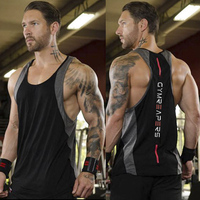 Men's Fitness Tank Top bodybuilding gym clothing Cotton sleeveless vest Fitness wild wolf brand spring summer new products