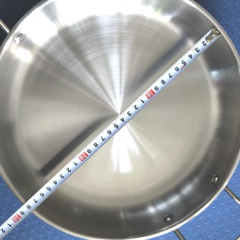 เส้นผ่าศูนย์กลางภายใน28เซนติเมตร,ไม่เคลือบสแตนเลสกระทะGriddlesและย่างกระทะ(เส้นผ่าศูนย์กลาง: 28เซนติเมตร)