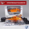 1:24 Scale kids Maisto Mustang SRT8 Camaro race car metal die cast vehicle kit assembly line collectible gift model sport cars