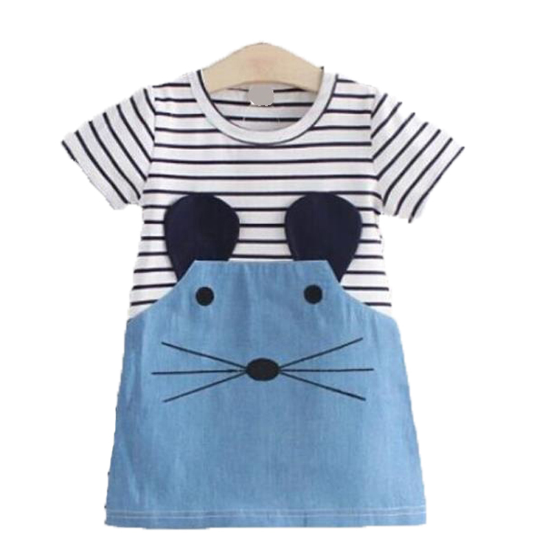Girl Dress baby Clothes Family kids dresses for girls toddler princess cat Autumn Fashion 2017 Kids Girls Children fashion 2016 new autumn girls dress cartoon kids dresses long sleeve princess girl clothes for 2 7y children party striped dress