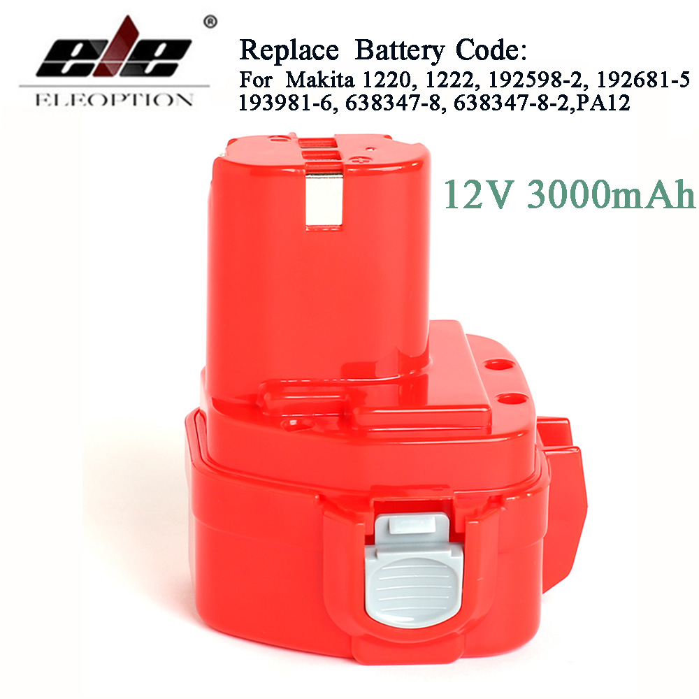 3000mAh 12V Ni-CD 3.0Ah Replacement Power Tool Battery for Makita 12V Battery PA12 1220 1233 1201 1222 1223 1235
