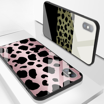 Luxury Tempered Glass Case For iPhone Leopard Print Protective Phone Back Cover Case Shell 1