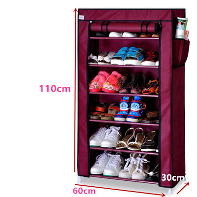 FREE Shipping 6 Tier Non-woven Single row Shoe Cabinets shelves simple living room home decorations debris storage