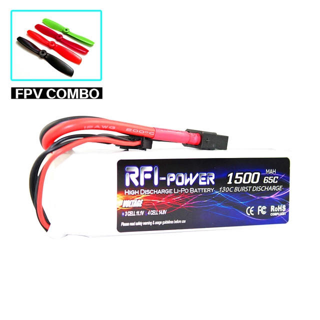 1500mAh 14.8V 65C(Max 130C) 4S Lipo Battery