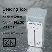 Beading Tools – 20pcs – Jewellery Tools – Diamond Stone Gem Setting – ZK Shanghai – Beader – Bead Grain Tool Set