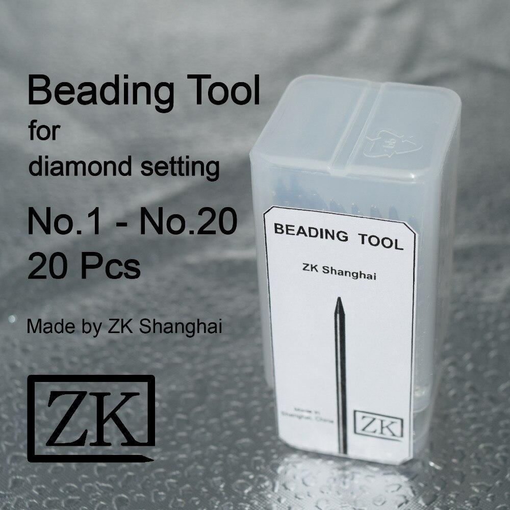 Perlen Werkzeuge-20 stücke-Schmuck Werkzeuge-Diamant Stein Edelstein einstellung-ZK Shanghai-Beader-Bead Korn Werkzeug-set